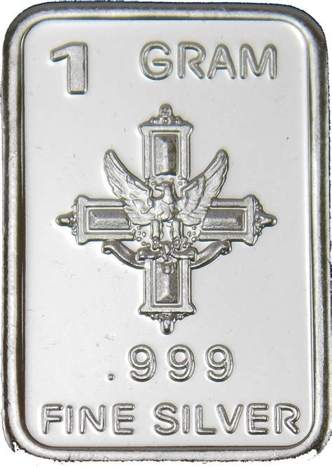 1 Gram 999 Silver Bar by 1 Gram Silver Bar Quot Cross Eagle Quot 999 Silver Bullion