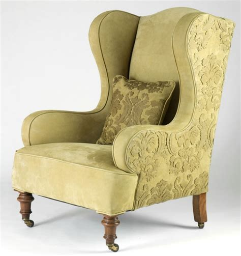 Winged Armchairs Design Ideas Chair Design Ideas Great Winged Chair For Living Room Winged Chair Green Floral Pattern