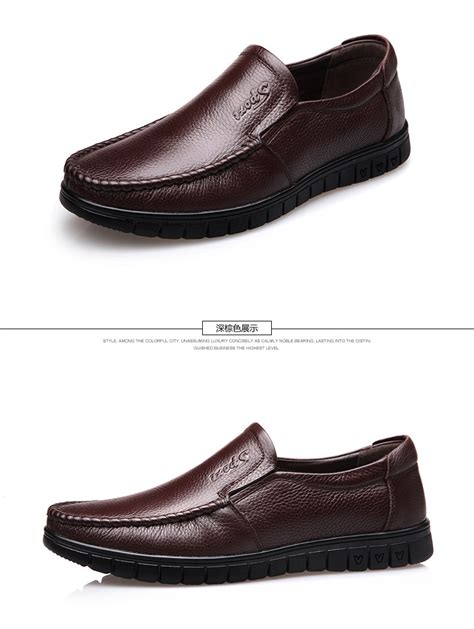 business casual shoes new mens business casual leather shoes brown lazada