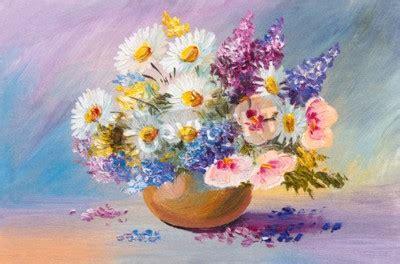 dipingere fiori ad olio bouquet di fiori estivi pittura ad olio ancora vita