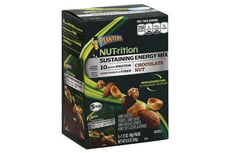 planters nut rition chocolate nut protein mix 8 6 oz