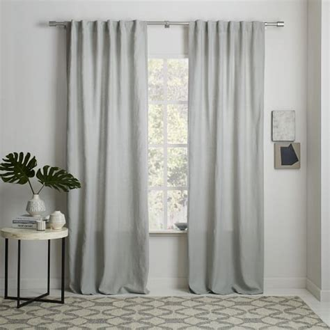 linnen curtains belgian flax linen curtain platinum west elm