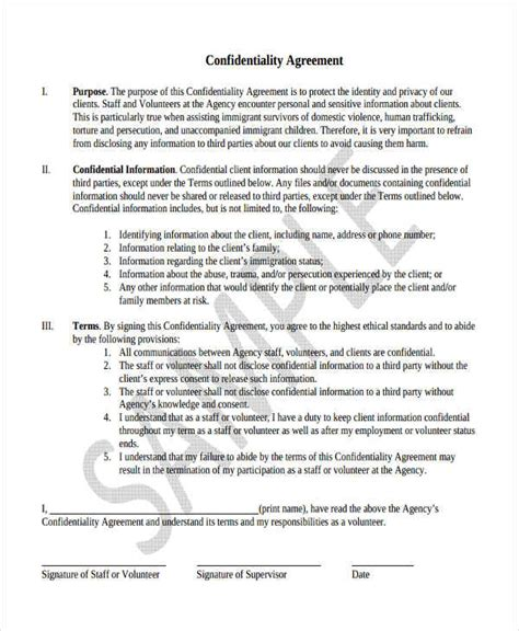 client confidentiality agreements 19 confidentiality agreement form free documents in