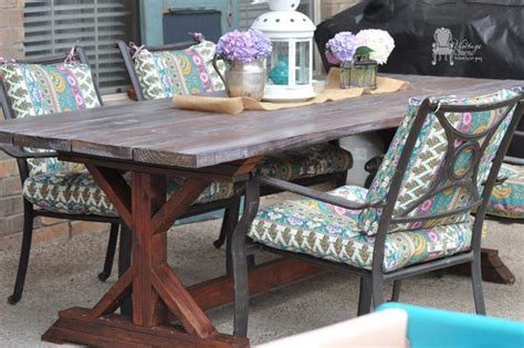 outdoor farmhouse table vintage charm restored