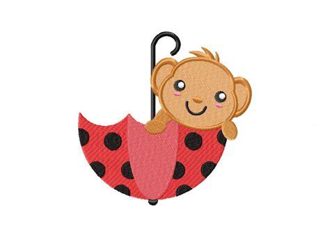 Gcp Monkey Umbrella Embroidered monkey umbrella machine embroidery design daily embroidery