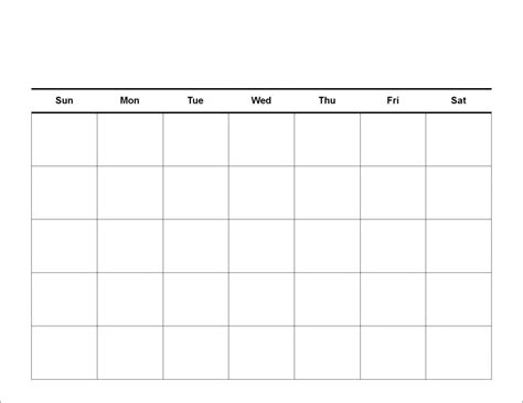 free monthly calendar templates print blank calendars