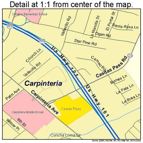 carpinteria california map carpinteria california map 0611446
