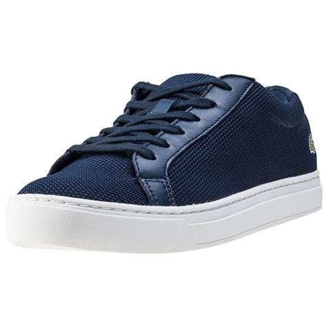 Lacoste L 12 12 lacoste l 12 12 bl 2 womens trainers in navy