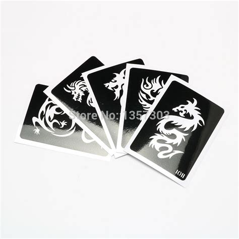tattoo kit free shipping 50 mixed design sheets stencil for body painting glitter
