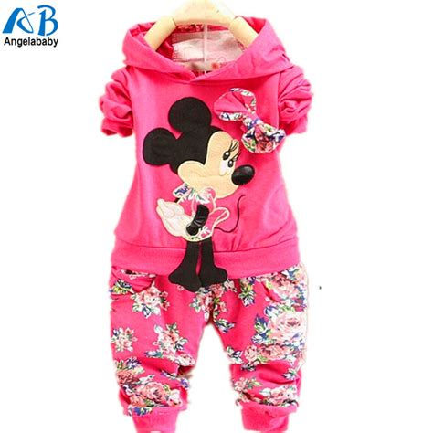 Set Baby Minnie toddler clothing sets 2016 children velvet clothing set minnie mouse baby