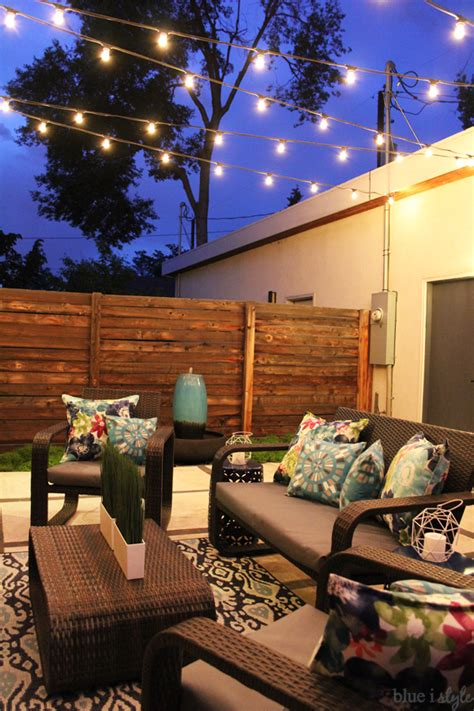patio string lights ideas outdoor style garden outdoor tour blue i style