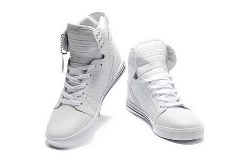 mens white high top sneakers skytop high top mens skate shoes all white shoes the supra