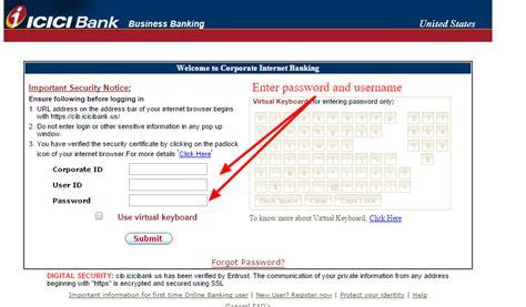 reset password online icici direct icici bank online banking login cc bank