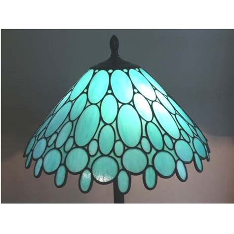 Stained Glass L Shade Kits by Stained Glass Teal L Shade With Ovals And Circles