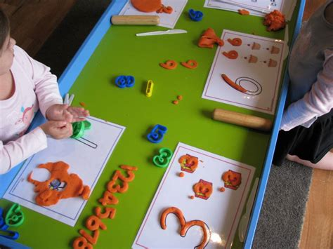 Ordinal Trust Me number play dough learning 4