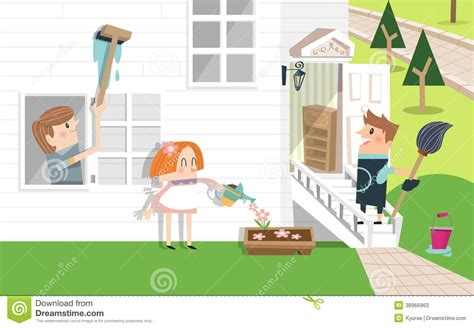cleaning the house family cleaning the house clipart 52