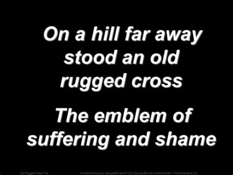 on a hill far away stood an rugged cross the fruit of the righteous is a tree of and he who wins souls is wise proverbs 11 30