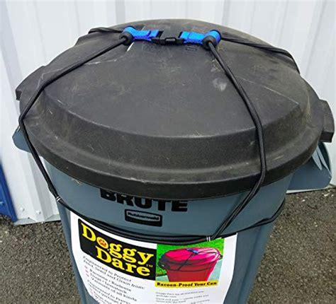 mess bin strap garbage lock trash  lid