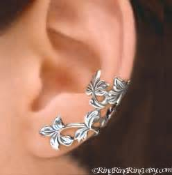 leaf ear cuffs sterling silver earrings sterling silver
