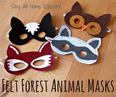 woodland animal mask templates 25 best ideas about forest animal crafts on
