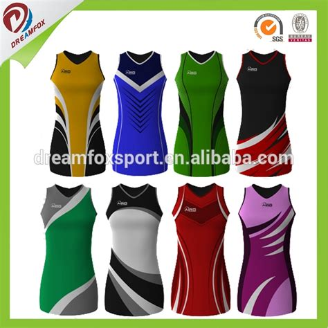 Jersey Go Goangzou sublimation cheap custom netball uniforms design your own