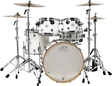 imagenes baterias musicales dw dw design series 5 piece shell pack gloss white sweetwater