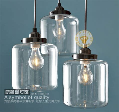 1 vintage retro clear glass bottle pendant light jar