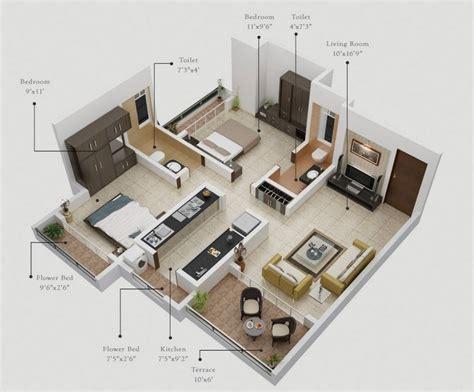 planos de apartamentos de dos dormitorios tikinti