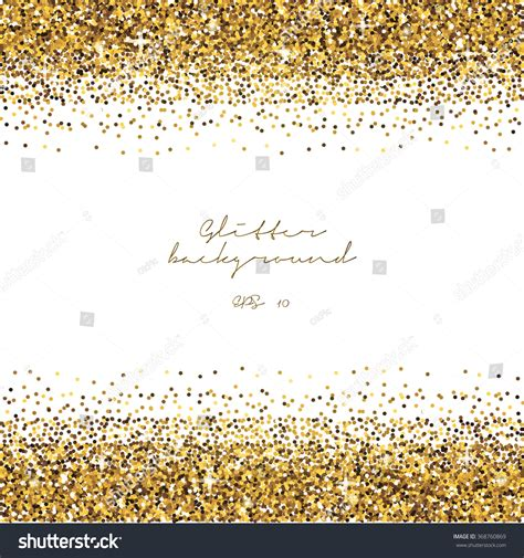 gold template golden glitter border background tinsel shiny stock vector