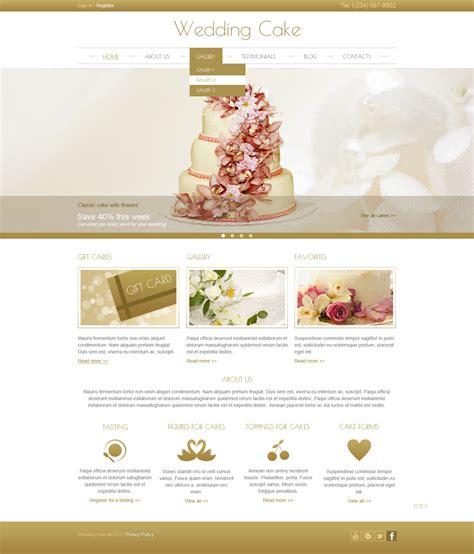 Cake Websites by Wedding Cake Joomla Template 44444
