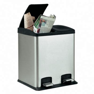 stainless steel l section buy stainless steel 24l 2 section recycling pedal bin from