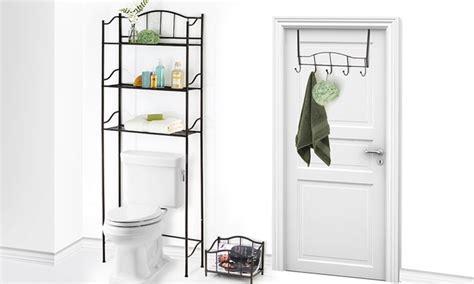 room saver magazine 3 bathroom space saver set groupon