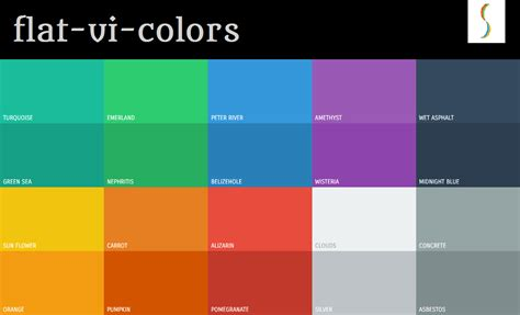flat colors used to improve your website design color