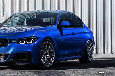 bmw f30 sport line felgen bmw f30 328i estoril blue with vmr v803 gunmetal custom wheels