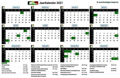 kalenders verlofperiodes waterstanden