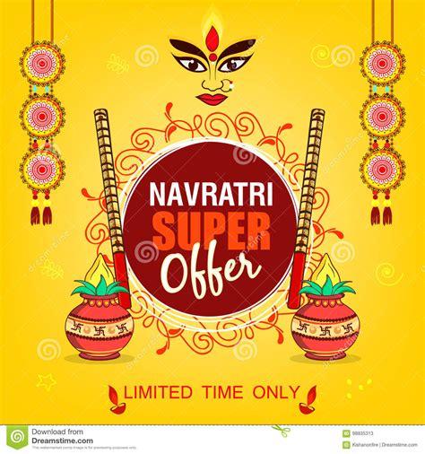 banner design navratri subho bijoya happy navratri stock illustration image
