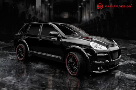 black porsche red interior official porsche cayenne by carlex design gtspirit