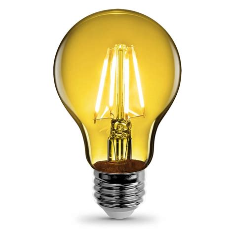 Led Clear Light Bulbs A19 Clear Glass Yellow Led Bulb Feit Electric