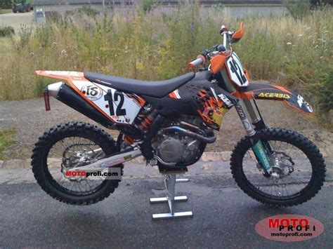 Ktm Sxf 450 2009 Ktm 450 Sx F 2009 Specs And Photos