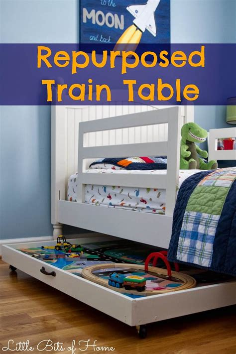 under bed train table great diy projects for your home nap time creations