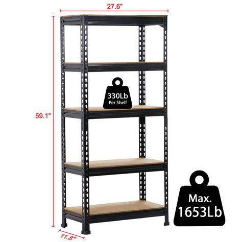 heavy duty shelf garage steel metal storage 5 level