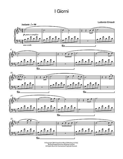 tutorial piano i giorni i giorni sheet music by ludovico einaudi piano 47141