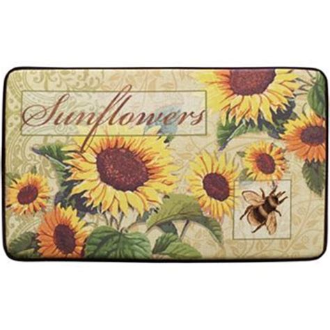 Sunflower Kitchen Rugs Sunflower Bee Kitchen Rug For The Home Kitchen Rug Products And Rugs