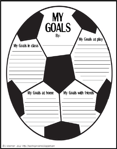 soccer goal setting worksheet description of implementation sperco