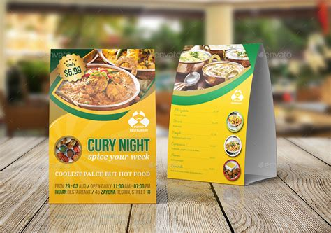 table ads for restaurants indian restaurant advertising bundle template by