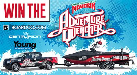 Boat Sweepstakes 2017 - win a centurion boat and ford truck from boardco com and maverik