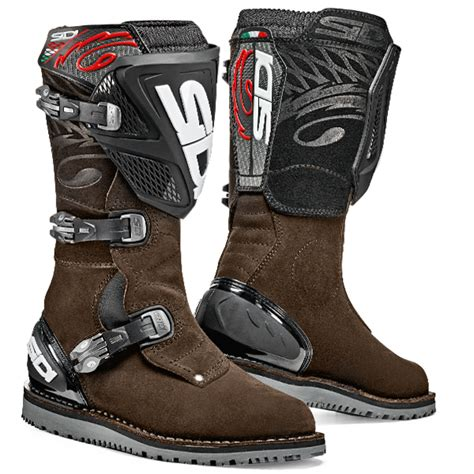 brown motocross boots sidi zero 1 trails boot brown dirtbikexpress