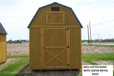 Rent Per Month 8x12 lofted barn w green metal roof