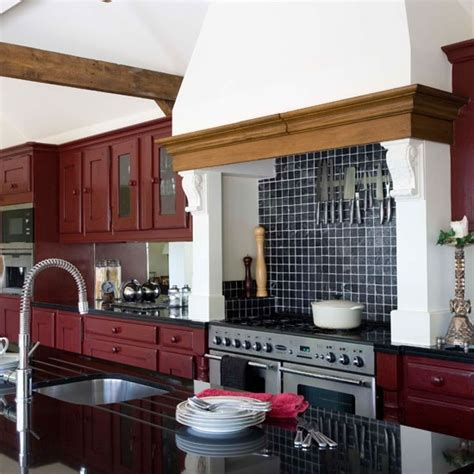 barn red kitchen cabinets red kitchen be inspired by this exotic barn conversion