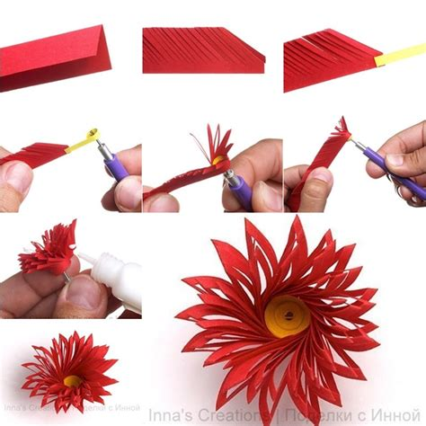 How To Make Different Types Of Paper Flowers - how to make unique quilled flower fab diy